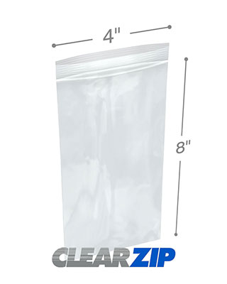 4x8 Clearzip® Lock Top 4 Mil Bags