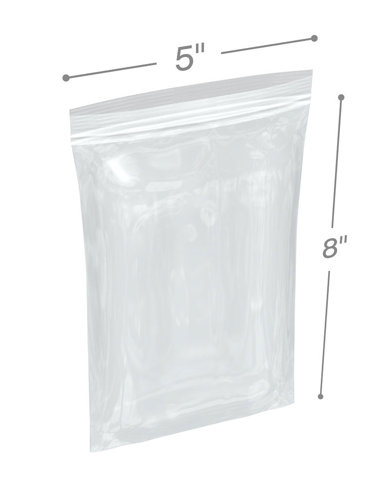 Clear RetailSource P040404DR1000 Double Track Reclosable Poly Bags Pack of 1000 4 x 4 4 x 4 4 mil