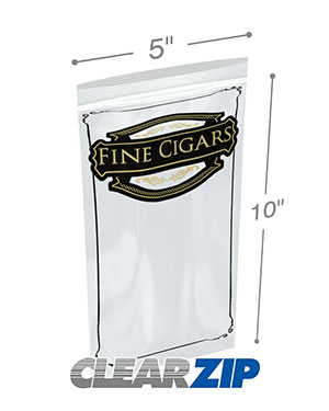 5x10 2 mil zipper lock cigar bag