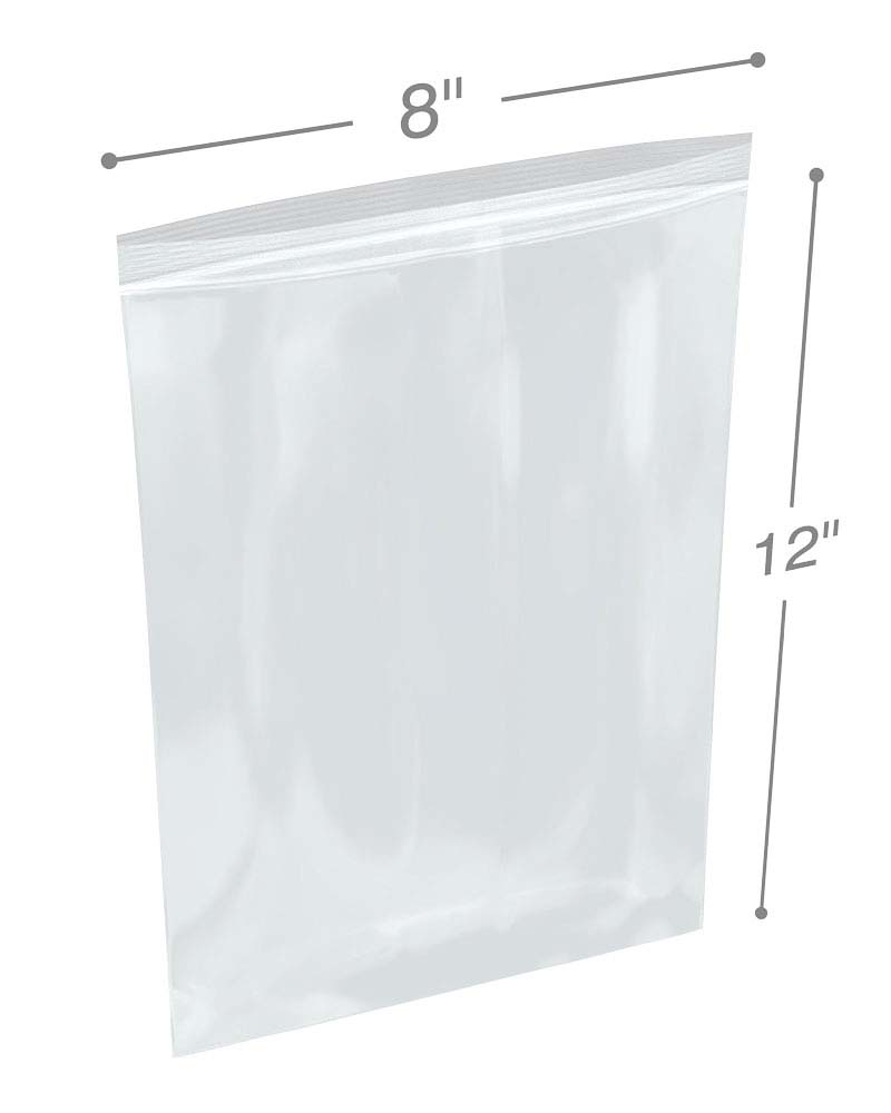 8 X 12 002 Clearzip Lock Bags