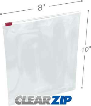 8x10 3 Mil Slider Lock Zip Bags