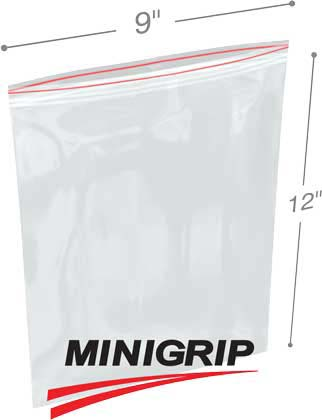 9x12 4Mil Reclosable MiniGrip Poly Bag