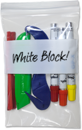 ClearZip® White Block Bags