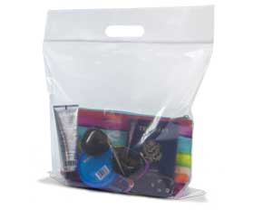 Zip Top Lock Die Cut Handle Bags